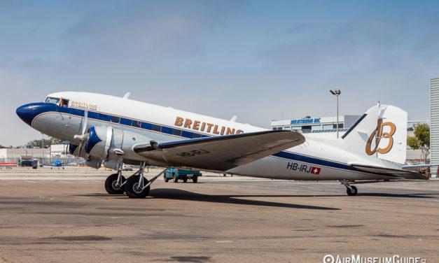 Breitling DC-3 World Tour visits Lyon Air Museum