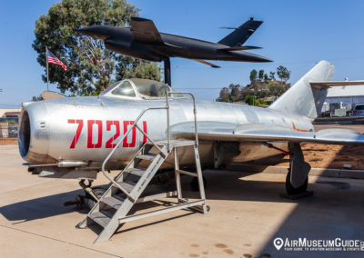 Mikoyan-Gurevich MiG-15 and Ryan Model 147 drone at the San Diego Air & Space Museum - Gillespie Field Annex