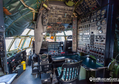 Boeing 377 Stratocruiser cockpit at the San Diego Air & Space Museum - Gillespie Field Annex