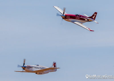 "North American P-51D Mustangs ""Voodoo"" & ""Strega"" at the 2018 PO"