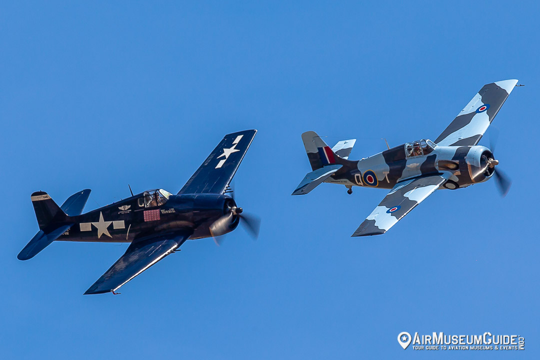 Grumman F6F-5 Hellcat Minsi III and General Motors FM-2 Wildcat