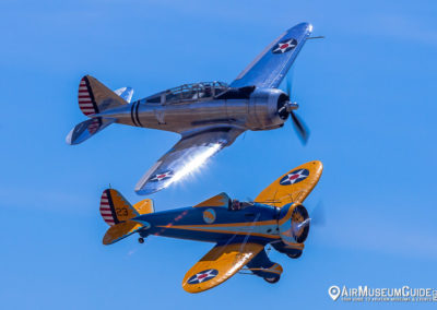 Seversky AT-12 (P-35) Guardsman & Boeing P-26A Peashooter