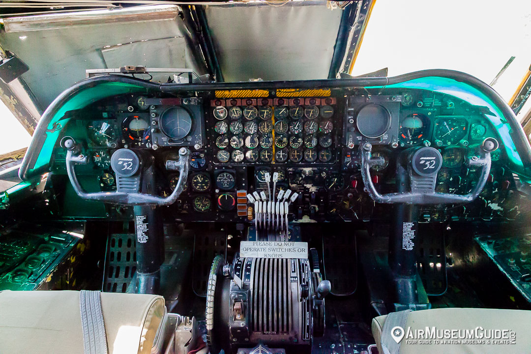 Boeing B-52D Stratofortress cockpit at the Castle Air Museum