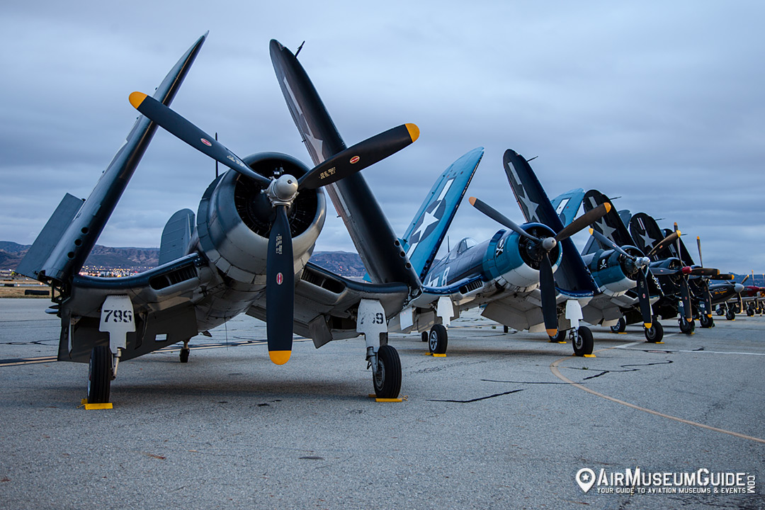 Vought F4 Corsairs at the 2017 Planes of Fame Air Show