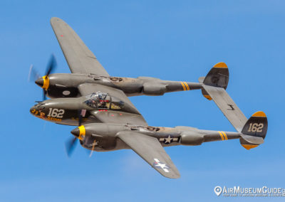 Lockheed P-38J Lightning from the Planes of Fame Air Museum, Chino