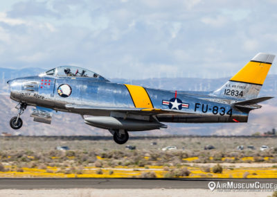 North American F-86-F Sabre from the Planes of Fame Air Museum, Chino