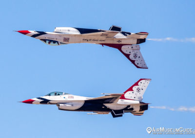 U.S.A.F. Thunderbirds in Calypso Formation - Los Angeles County