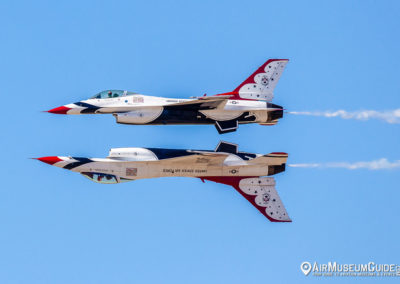 U.S.A.F. Thunderbirds Reflection pass - Los Angeles County Air