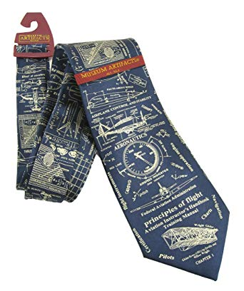Museum Artifacts Principles of Flight Silk Tie