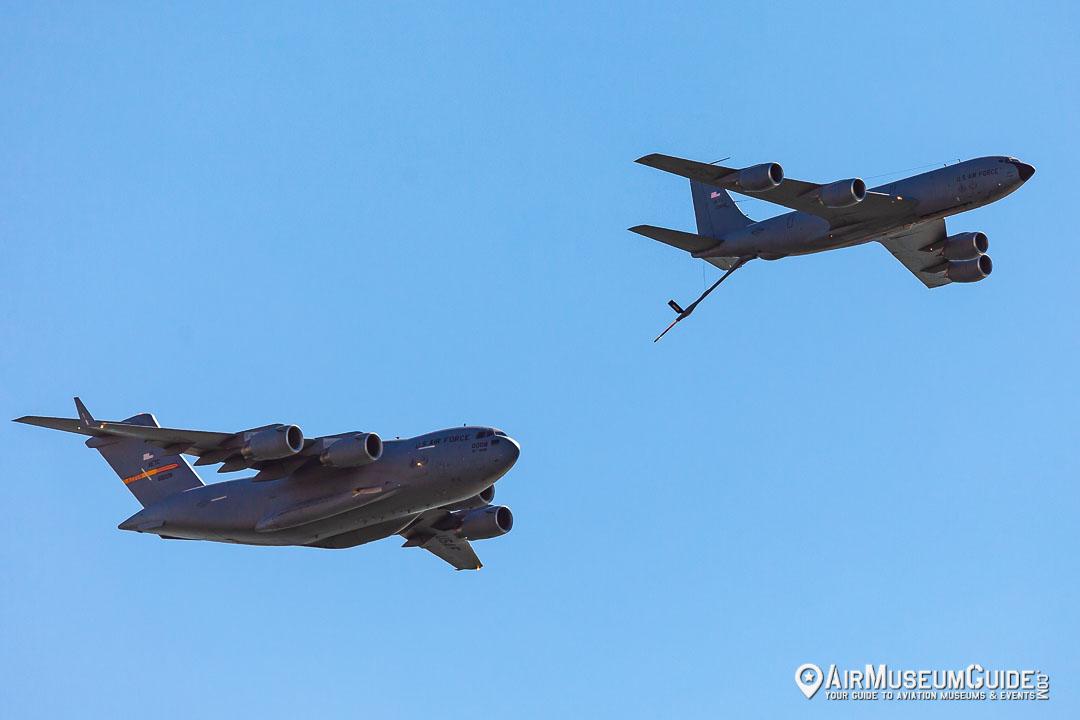 Boeing KC-135 Stratotanker and Boeing C-17 Globemaster III