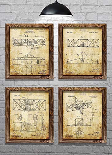 "Wright Brothers Flyer Patents - First Flight - Set of Four - 8x10"" Prints"