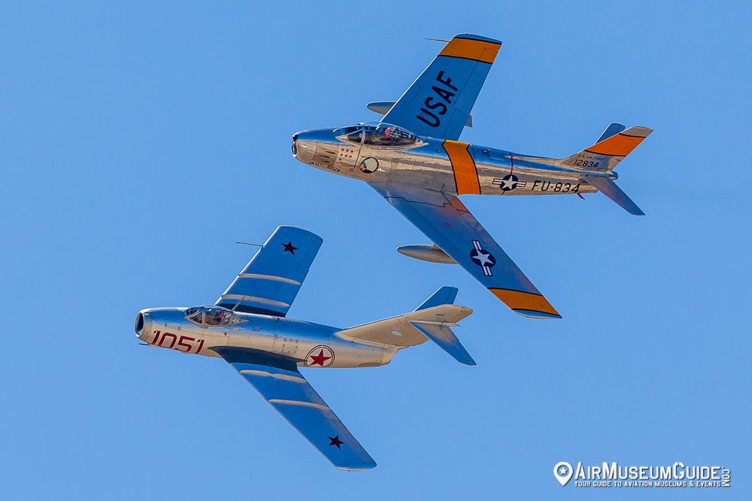 North American F-86F Sabre & Mikoyan-Gurevich MiG-15